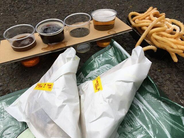 お昼ごはんケバブとポテト
