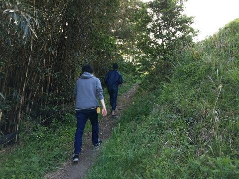 棚田への道