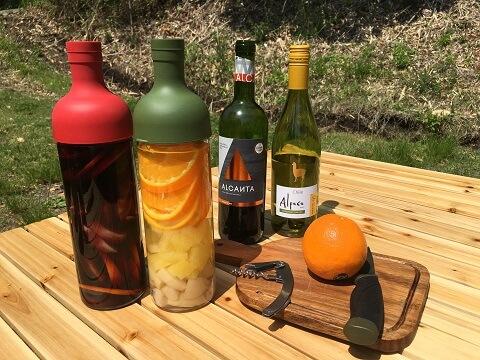 サングリアとワインとオレンジ