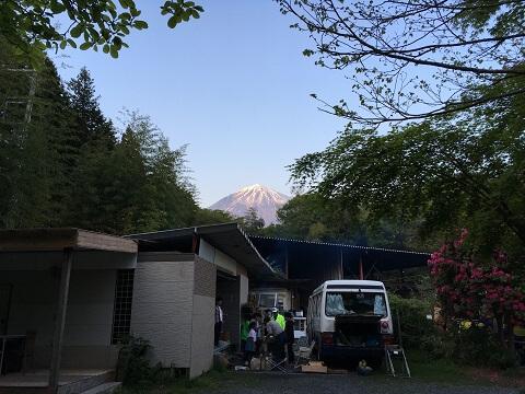 見える富士山