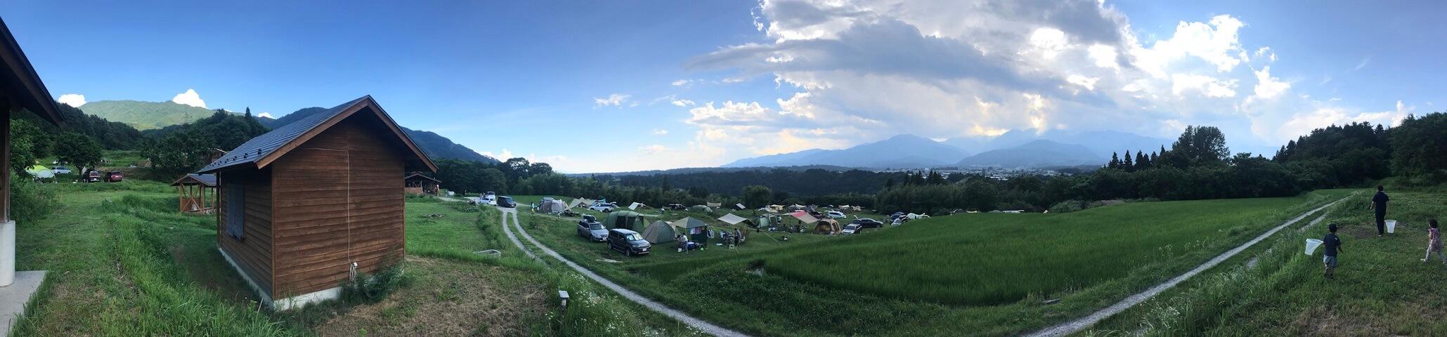 風 場 キャンプ の 天気 いなか
