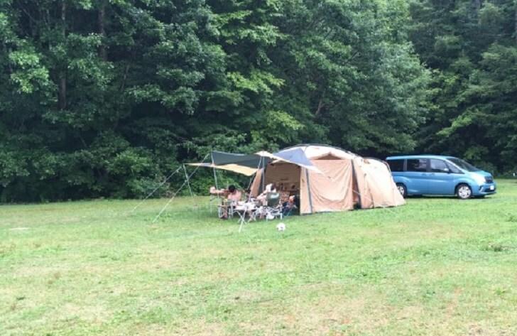 テント周辺にスペースの余裕を持たせる