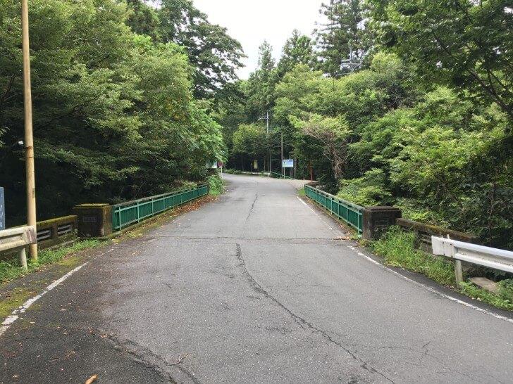 キャンプ場直前にある橋