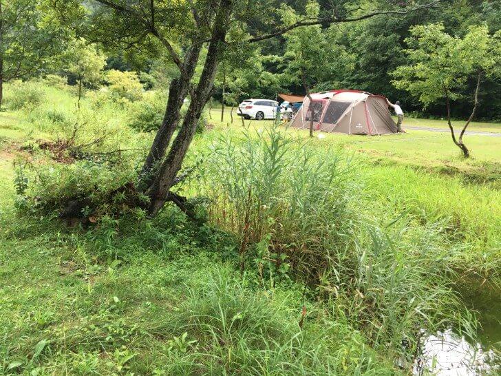 キャンプ場を流れる川