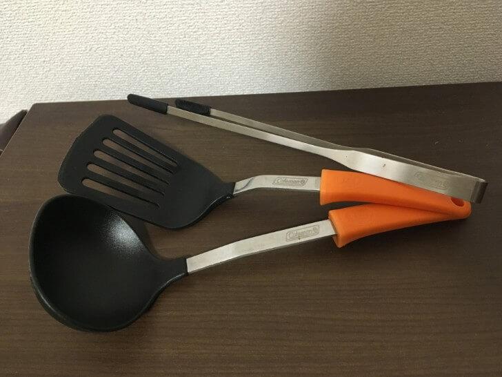 コールマンクッキングツールセットの調理器具