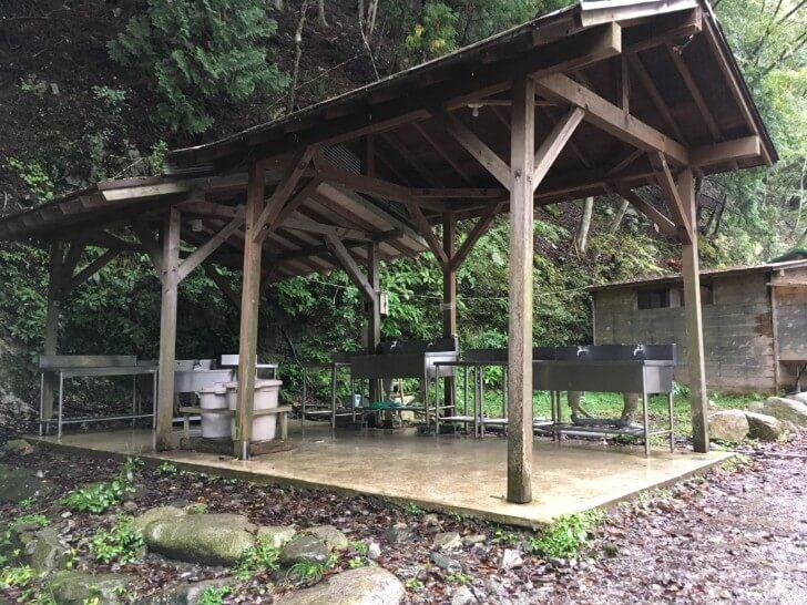 ウェルキャンプ西丹沢の炊事場
