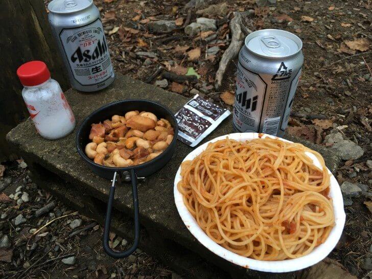 完成した焼き鳥ナッツと晩御飯