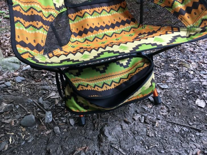 椅子の下に袋を装着