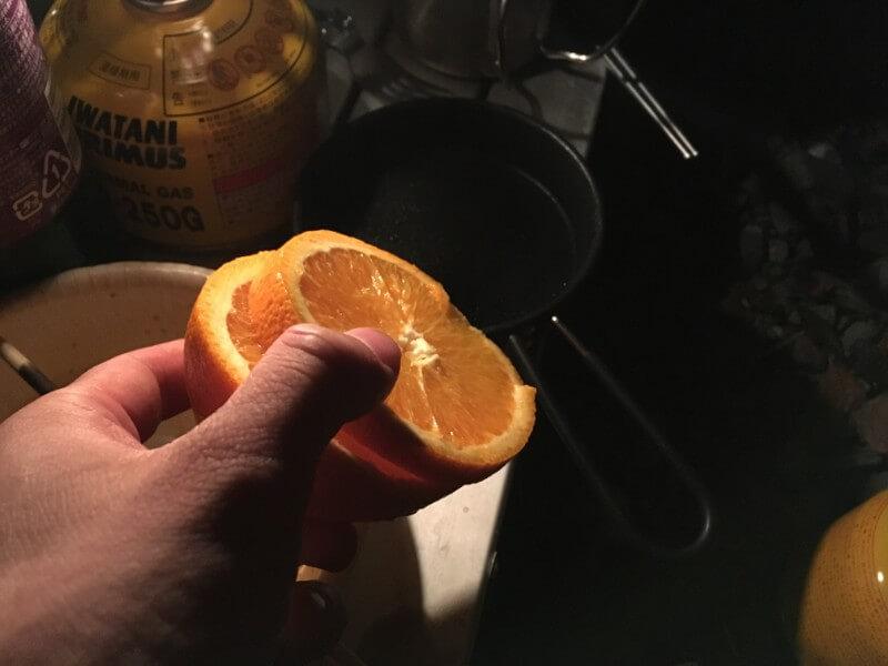 カットしたオレンジ