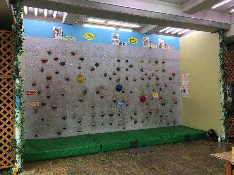 奥多摩ビジターセンターのボルダリング壁