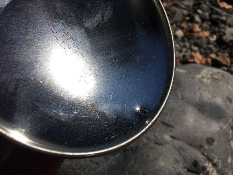 snow peak クワガタで穴をあけたガス缶