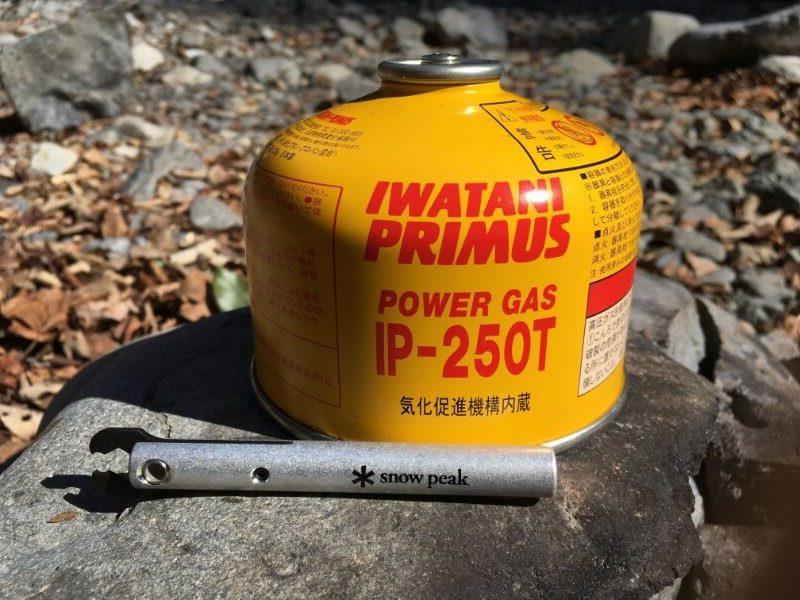 snow peak クワガタとPrimusのガス缶