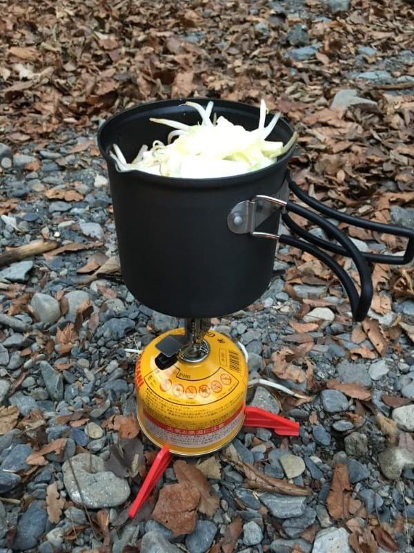 プリムス ライテックトレックケトル&パンで鍋を作る