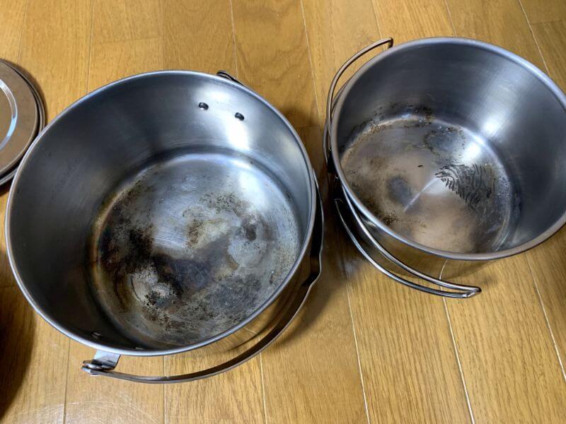 キャプテンスタッグ ラグナステンレスクッカーセットの鍋