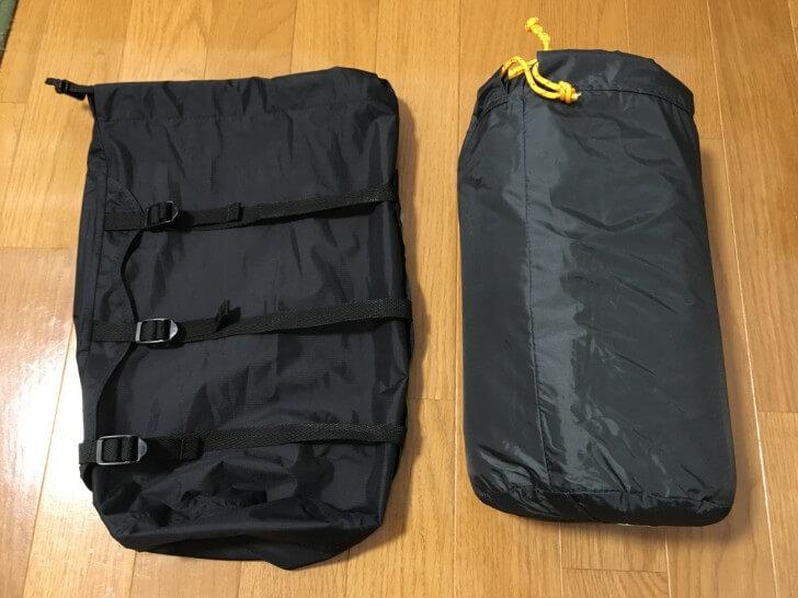 オクトス コンプレッションバッグと圧縮するテント