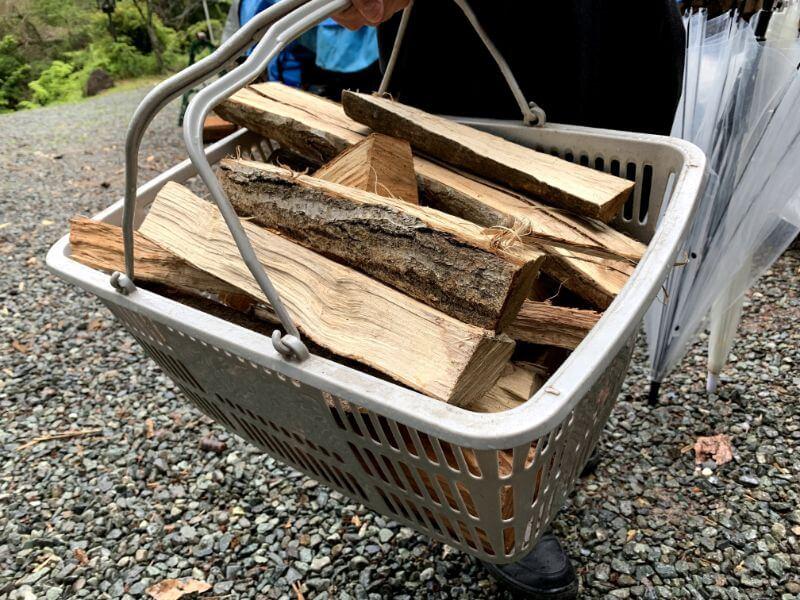 このまさわ渓流園の薪