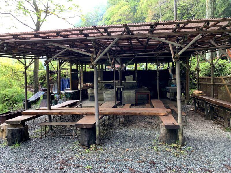 このまさわ渓流園の炊事場