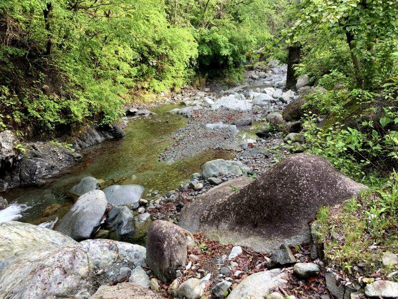 このまさわ渓流園の渓流