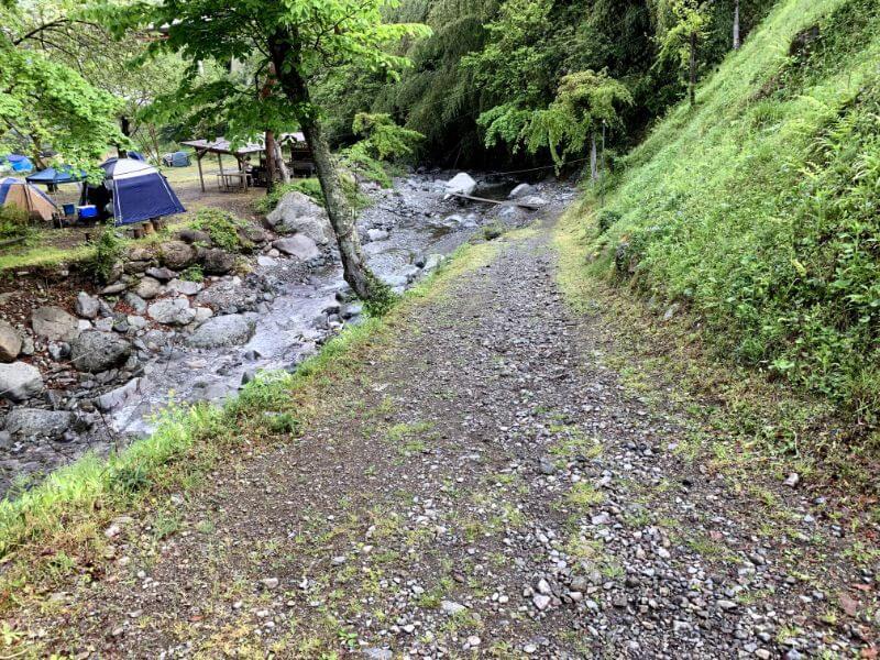 このまさわ渓流園の坂
