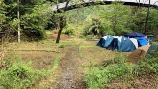 このまさわ渓流園のテントサイト