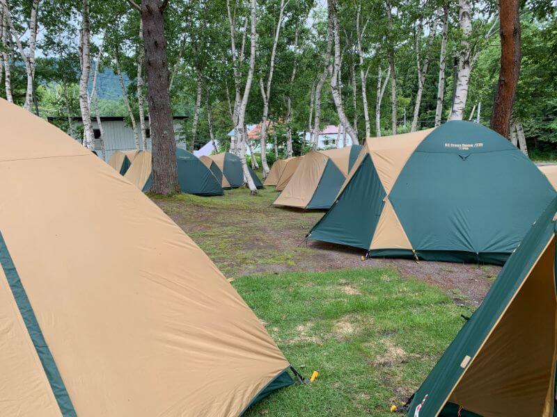 ゆとりキャンプのテント