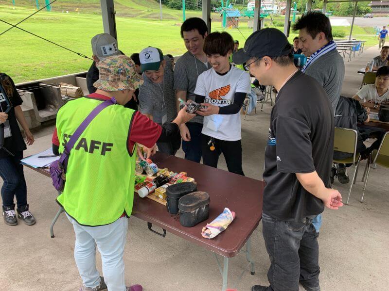ゆとりキャンプカレーコンテストの食材争奪戦