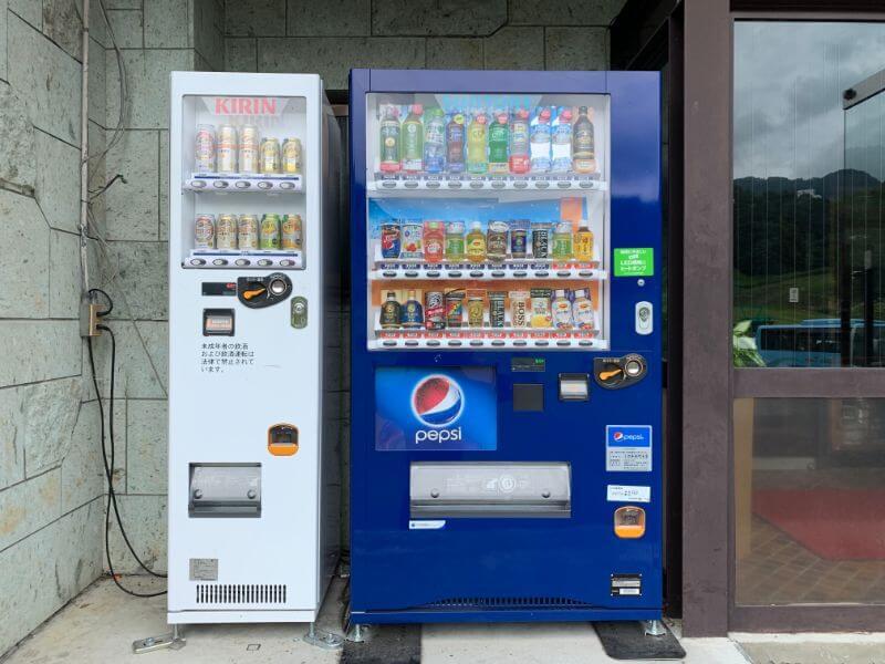 ホテルサンバードの自動販売機