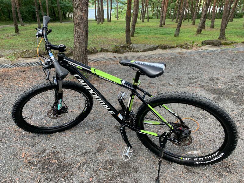 PICA富士西湖で借りたマウンテンバイク